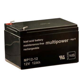 MULTIPOWER Standardtyp MP12-12 12V 12Ah AGM...