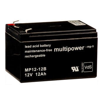 MULTIPOWER Standardtyp MP12-12B 12V 12Ah AGM...