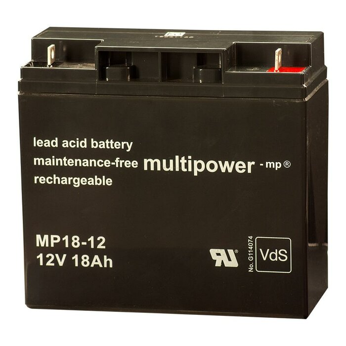 MULTIPOWER Standardtyp MP18-12 12V 18Ah AGM...