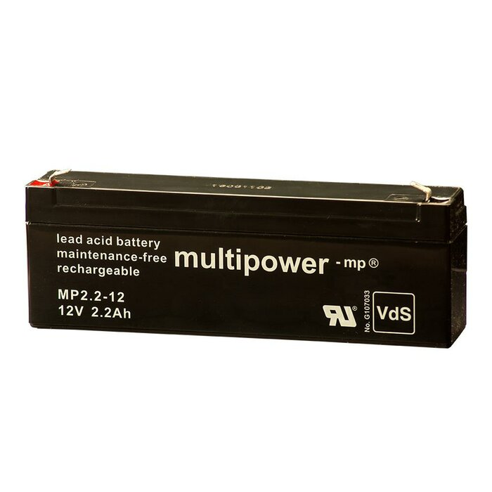 MULTIPOWER Standardtyp MP2,2-12 12V 2,2Ah AGM...