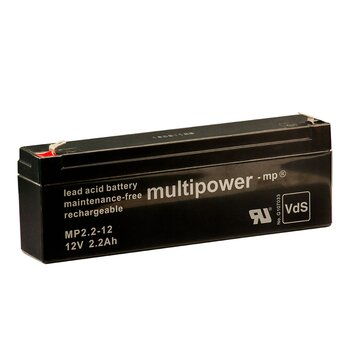 MULTIPOWER Standardtyp MP2.2-12 12V 2,2Ah AGM...
