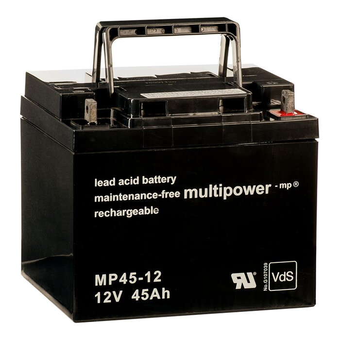 MULTIPOWER Standardtyp MP45-12 12V 45Ah AGM Versorgungsbatterie