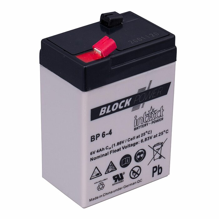 INTACT Block-Power BP6-4 6V 4Ah AGM Versorgungsbatterie