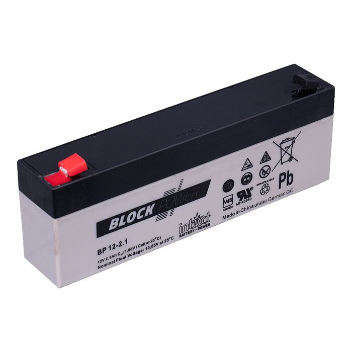 INTACT Block-Power BP12-2.1 12V 2.1Ah AGM Versorgungsbatterie