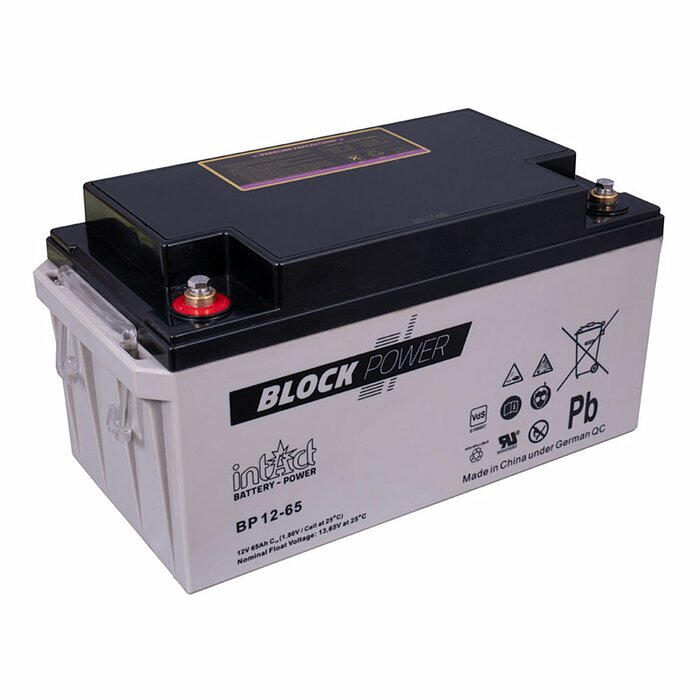 INTACT Block-Power BP12-65 12V 65Ah AGM Versorgungsbatterie
