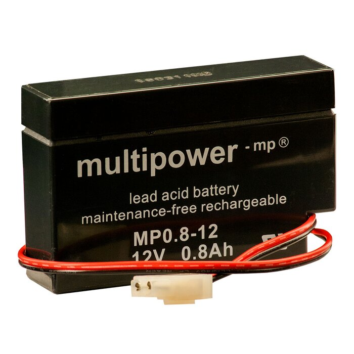 MULTIPOWER Standardtyp MP0.8-12AMP 12V 0,8Ah AGM...