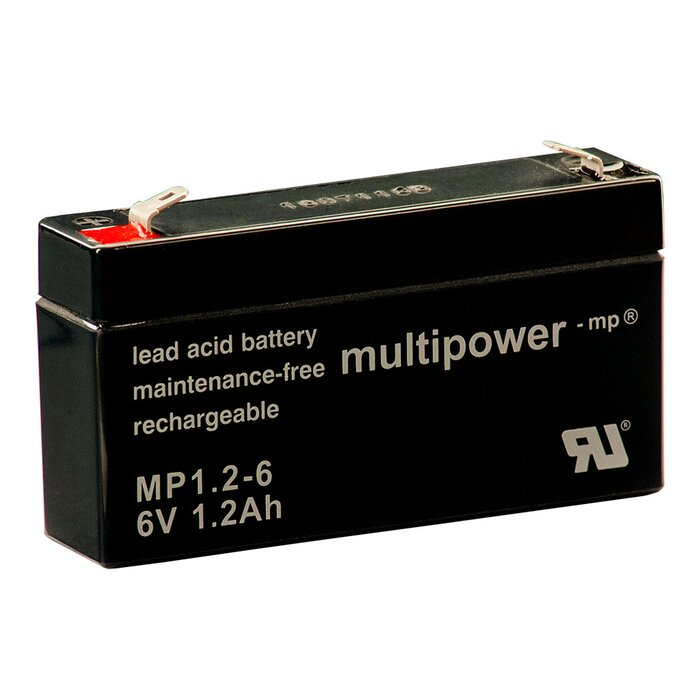 MULTIPOWER Standardtyp MP1.2-6 6V 1,2Ah AGM Versorgungsbatterie