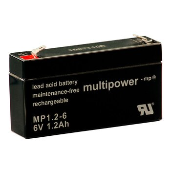 MULTIPOWER Standardtyp MP1.2-6 6V 1,2Ah AGM...