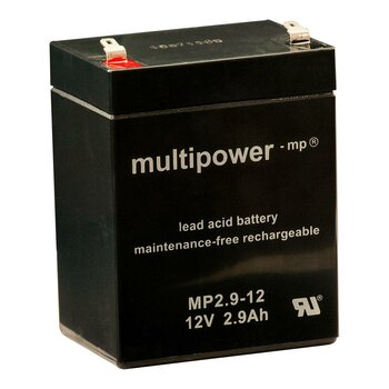 MULTIPOWER Standardtyp MP2.9-12 12V 2,9Ah AGM...