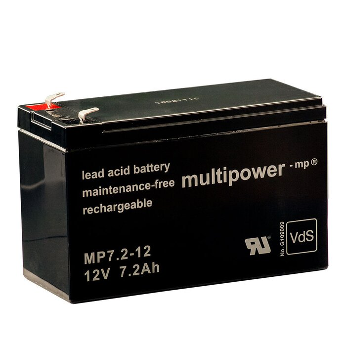 MULTIPOWER Standardtyp MP7.2-12 12V 7,2Ah AGM...