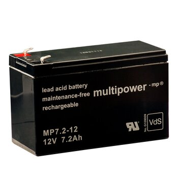 MULTIPOWER standard type MP7.2-12 12V 7.2Ah AGM supply...