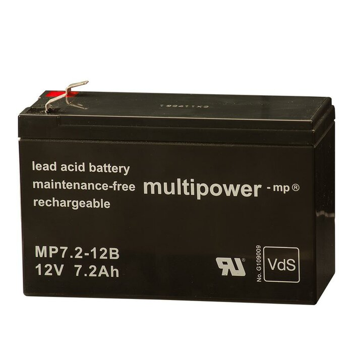 MULTIPOWER Standardtyp MP7.2-12B 12V 7,2Ah AGM...