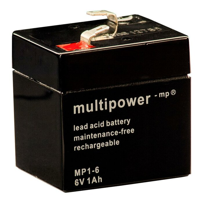 MULTIPOWER Standardtyp MP1-6 6V 1Ah AGM Versorgungsbatterie