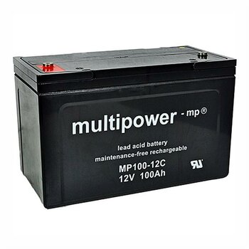 MULTIPOWER Zyklentyp MP100-12C 12V 100Ah AGM...