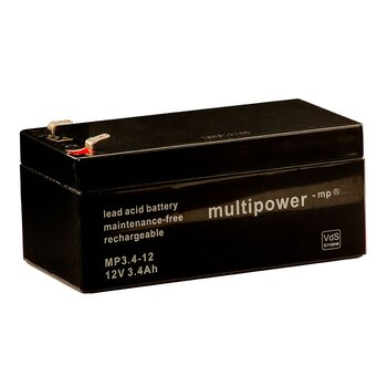 MULTIPOWER Standardtyp MP3.4-12 12V 3,4Ah AGM...