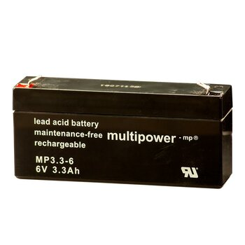MULTIPOWER Standardtyp MP3.3-6 6V 3,3Ah AGM...