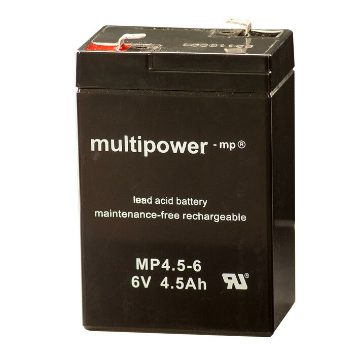 MULTIPOWER Standardtyp MP4.5-6 6V 4,5Ah AGM...