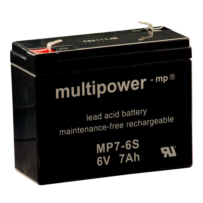 MULTIPOWER Standardtyp MP7-6S 6V 7Ah AGM Versorgungsbatterie