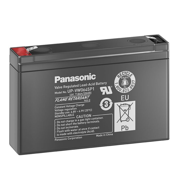 PANASONIC AGM UP-VW0645P1 6V 7,8Ah