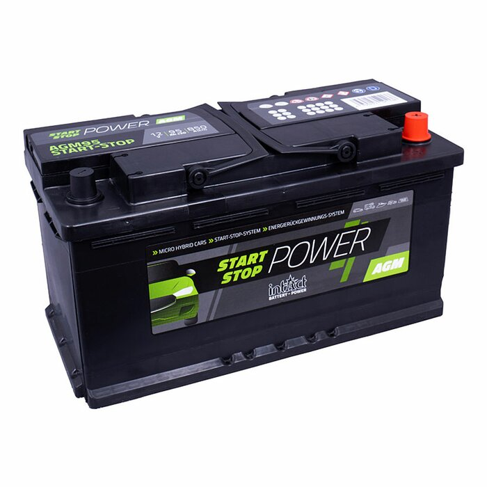 Intact Start-Stop-Power AGM900 12 V 90 Ah AGM starter battery