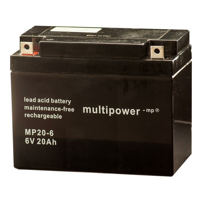MULTIPOWER Standardtyp MP20-6 6V 20Ah AGM Versorgungsbatterie