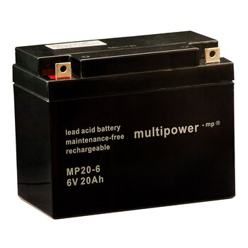 MULTIPOWER Standardtyp MP20-6 6V 20Ah AGM...