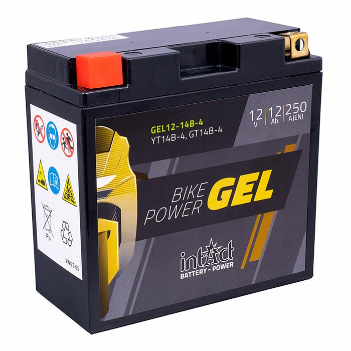 INTACT Bike-Power Gel 12-14B-4 / YT14B-4 12V 12Ah GEL...