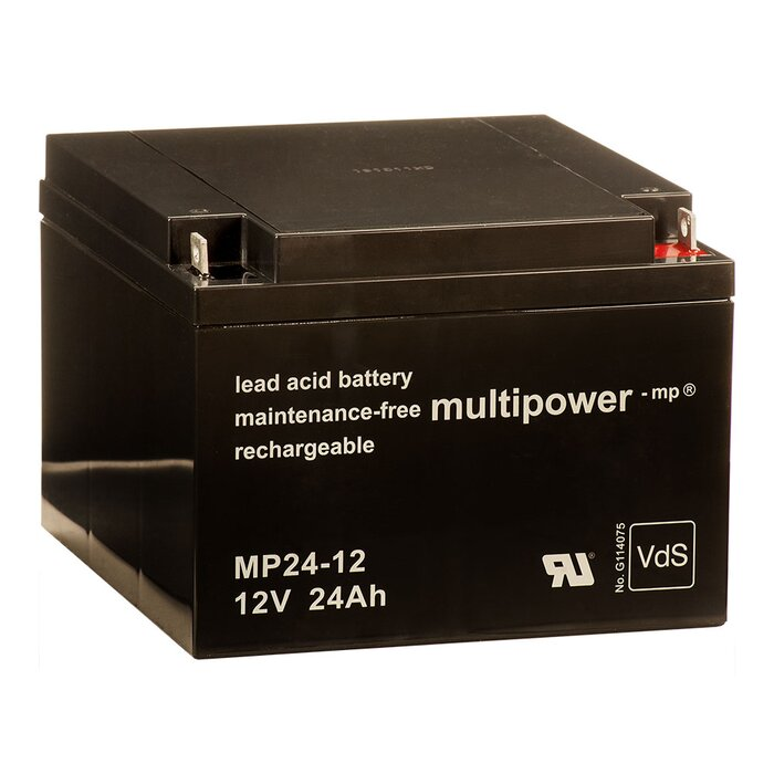 MULTIPOWER Standardtyp MP24-12 12V 24Ah AGM...