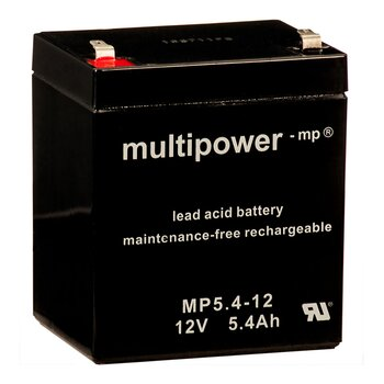 MULTIPOWER Standardtyp MP5.4-12 12V 5,4Ah AGM...