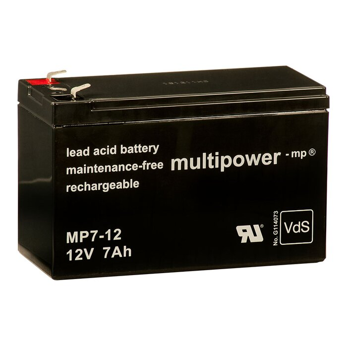 MULTIPOWER Standardtyp MP7-12 12V 7Ah AGM...