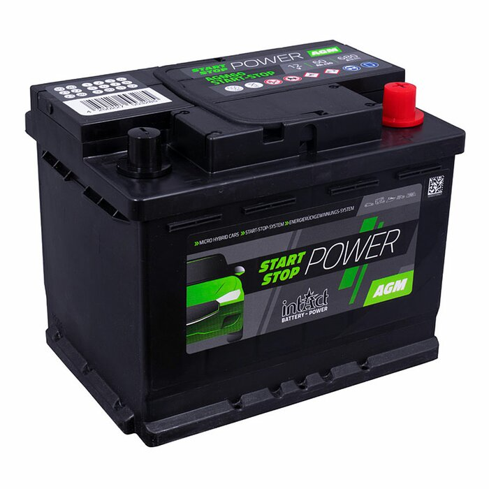 INTACT Start-Stop-Power AGM600 12 V 60 Ah AGM Starterbatterie