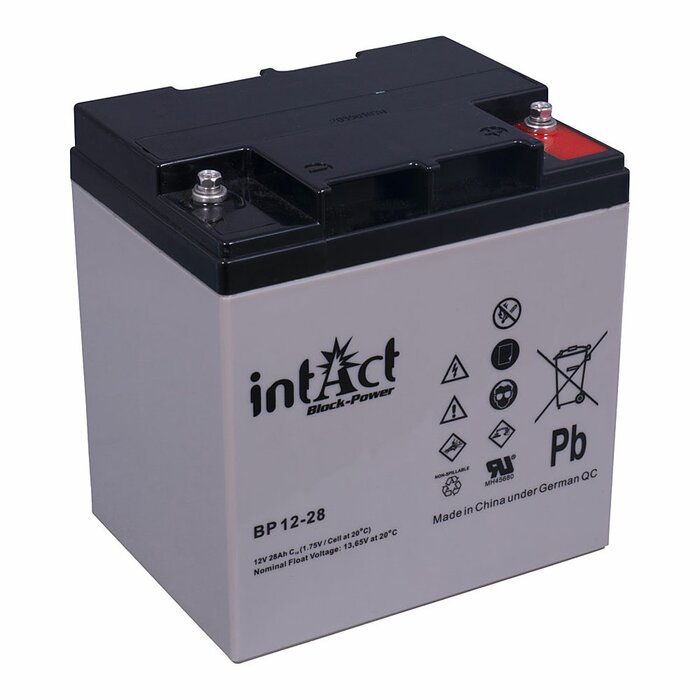 INTACT Block-Power BP12-28 12V 28Ah AGM Versorgungsbatterie