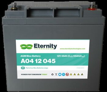 ETERNITY AGM-Blockbatterie A04 12 045 /12 V 45 Ah...