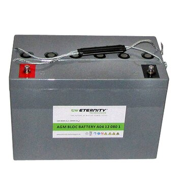 ETERNITY AGM-Blockbatterie A04 12 080 1 /12 V 80 Ah...