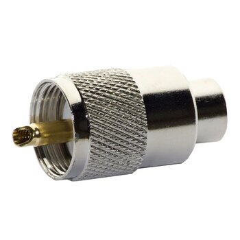 Stecker PL 259/6 RG58  golden Pin
