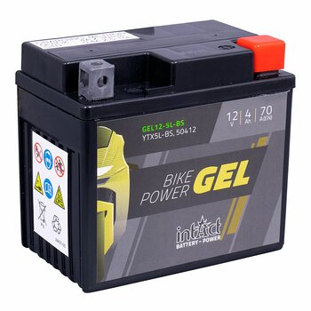 INTACT Bike-Power Gel 12-5L-BS / YTX5L-BS 12V 4Ah GEL...