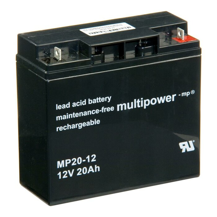 MULTIPOWER Standardtyp MP20-12 12V 20Ah AGM Versorgungsbatterie