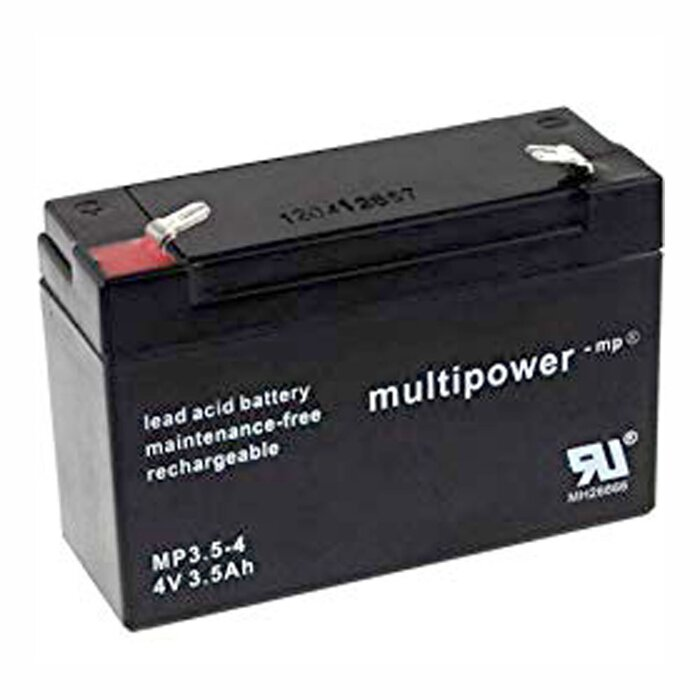 MULTIPOWER Standardtyp MP3.5-4 4V 3,5Ah AGM Versorgungsbatterie