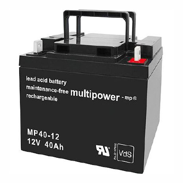 MULTIPOWER Standardtyp MP40-12 12V 40Ah AGM Versorgungsbatterie